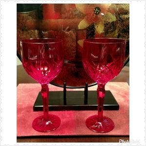 Marquis by Waterford Red Crystal Wine Glass Pair